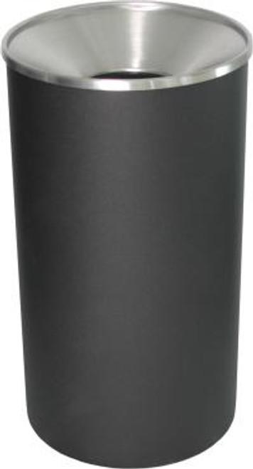 33 Gallon Heavy Duty Metal Trash Can WR-33F BLX BLACK