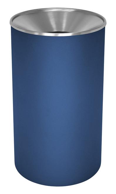 33 Gallon Heavy Duty Metal Trash Can WR-33F INGX INDIGO BLUE