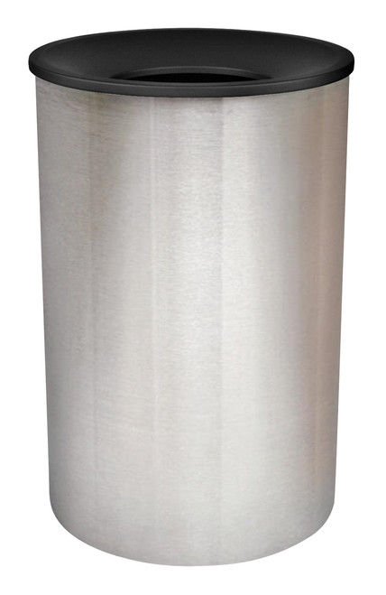 45 Gallon High Capacity Stainless Steel Can WR-2234F BLX BLACK TOP