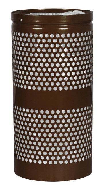 34 Gallon Mesh Trash Can WR-34R COFFEE GLOSS with Anchor Kit