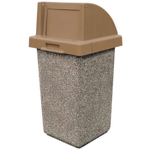 30 Gallon Concrete Push Door Top Outdoor Waste Container TF1015 E23-4