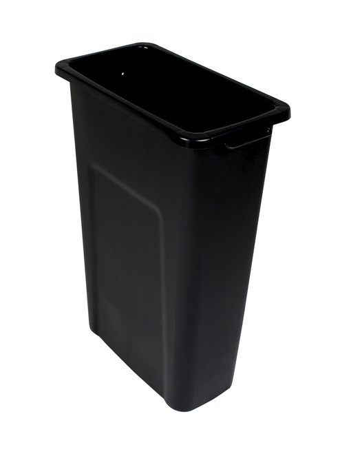 20 Gallon Skinny Plastic Home & Office Trash Can Black