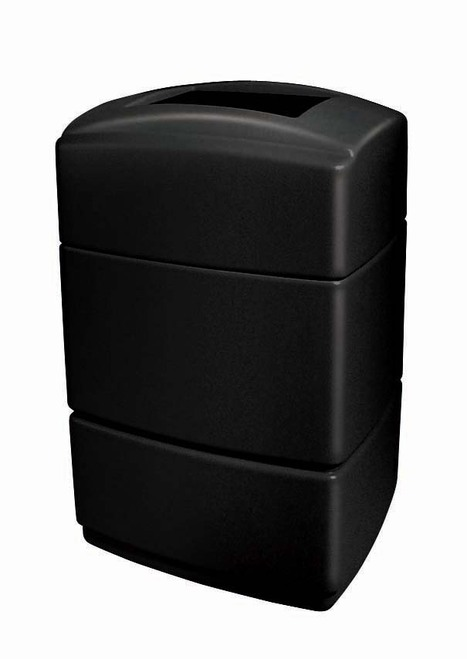 40 Gallon All Season Rectangular Plastic Indoor Outdoor Garbage Can