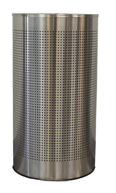 12 Gal. The Celestial CLHR12-SS Mesh Half Round Trash Can Stainless Steel