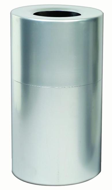 35 Gallon Aluminum Trash Container Open Top Clear Coat