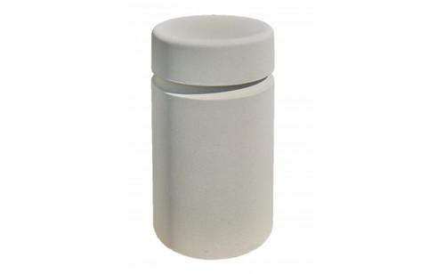 Concrete Bollard Safety Barrier 18 x 36 TF6016 Acid Wash White