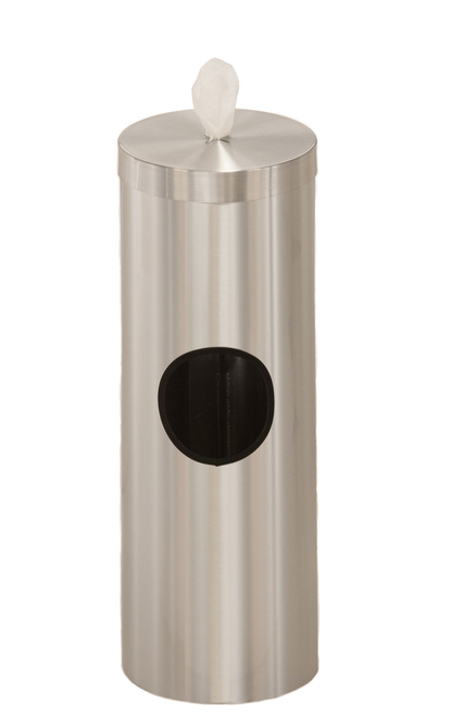 2 Gallon Floor Standing Sanitizing Wipe Dispenser F1028 Satin Aluminum