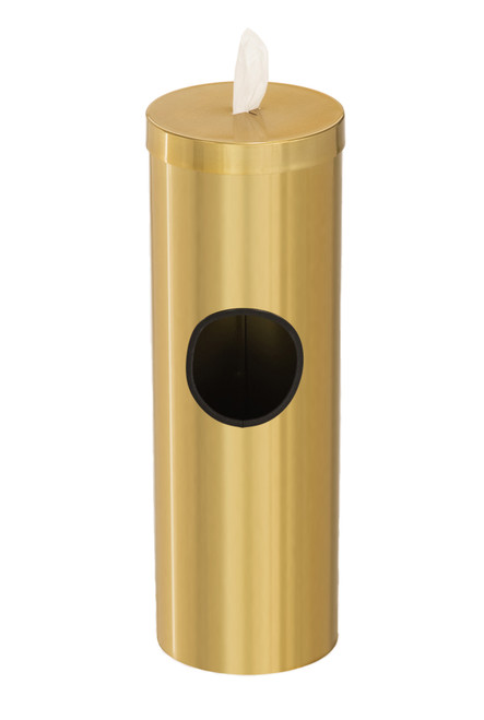 2 Gallon Floor Standing Sanitizing Wipe Dispenser F1028 Gloss Brass