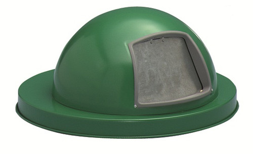 18.75 Inch Painted Metal Dome Lid M2401-DTL-GN