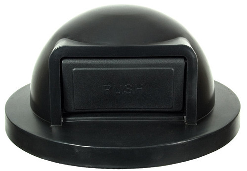 19.75 Inch Black Push Door Plastic Lid for Witt Trash Cans SC35DT