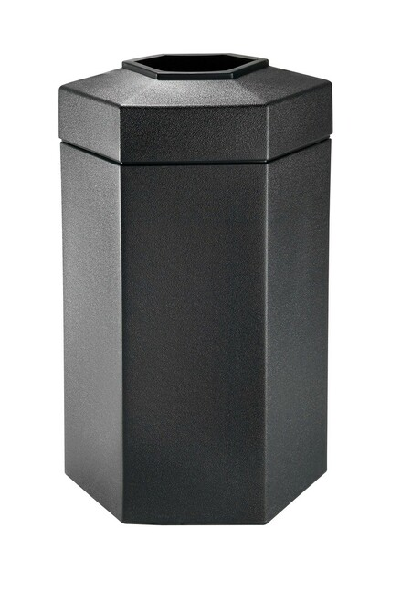 50 Gallon All Season Outdoor Hexagon Plastic Garbage Can 737501