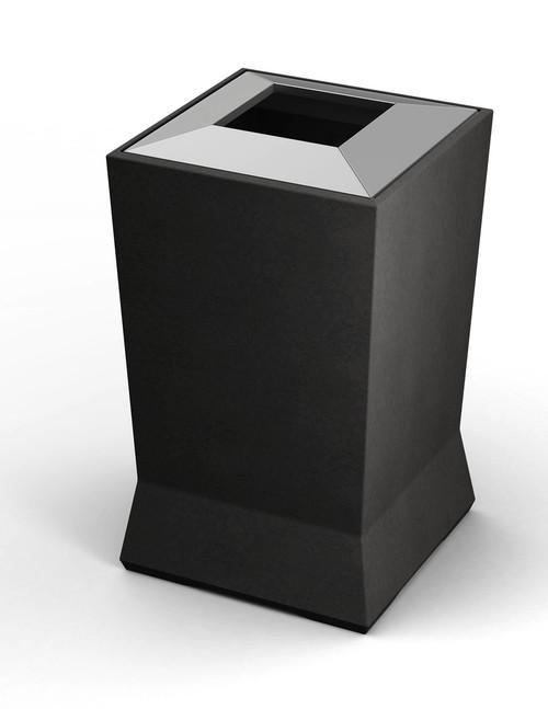 39 Gallon ModTec Plastic & Steel Designer Trash Can 724666 Gunmetal Satin