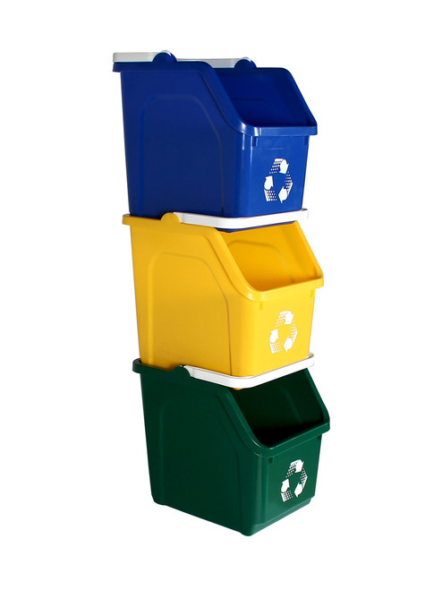 Stackable Multi Recycler 3 Pack 101376 (Blue, Yellow, Green)