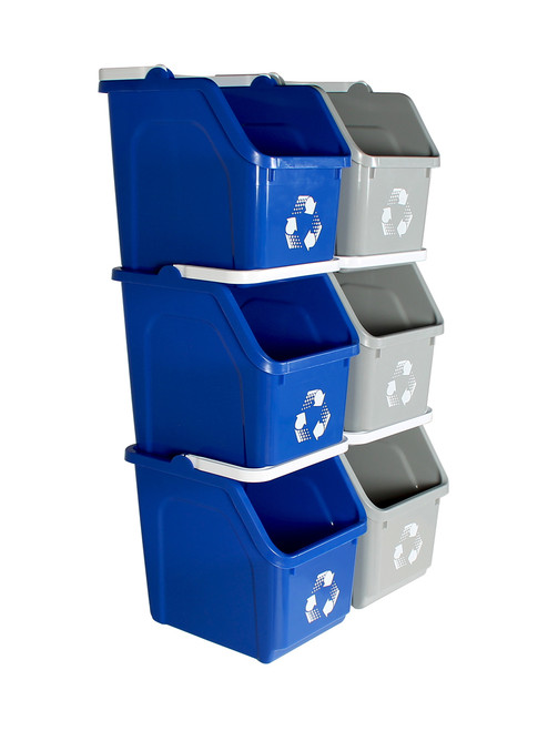 Stackable Multi Recycler 6 Pack 101377 (Blue, Gray)
