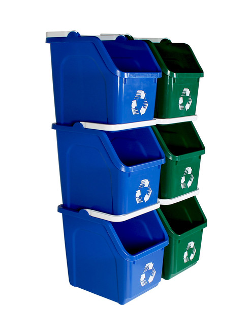 Stackable Multi Recycler 6 Pack 101378 (Blue, Green)