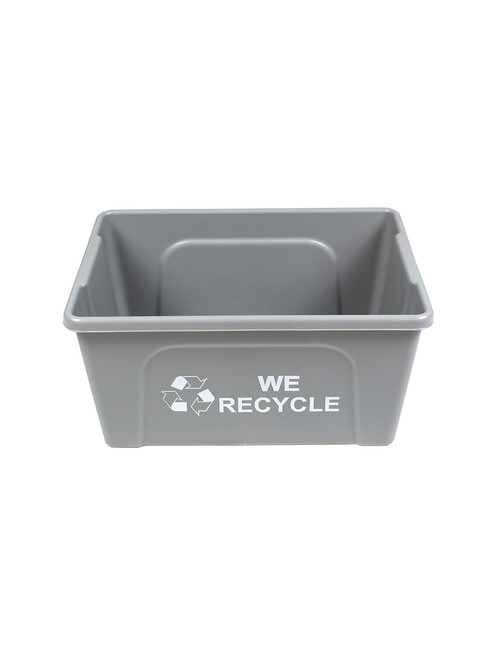 3 Gallon WE RECYCLE Gray Bottles & Cans Collector BC1001-44WR