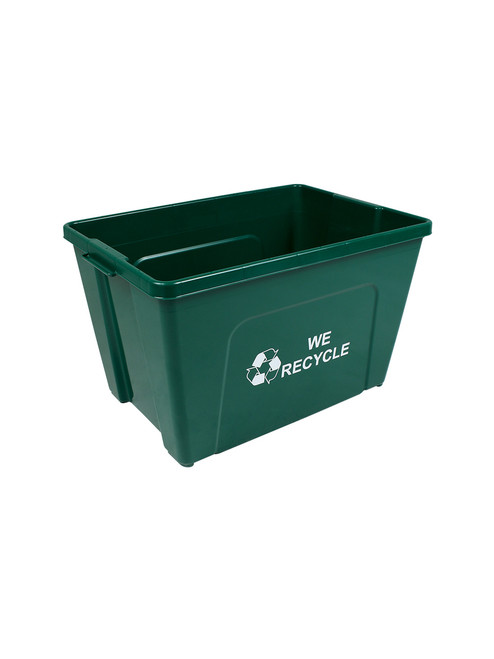 18 Gallon WE RECYCLE Bottles & Cans Curbside Recycler Green TRUE18-12WR