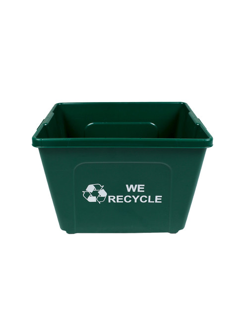 14 Gallon Bottles & Cans Curbside Recycler Green TRUE14-12WR (Logo On Both Sides)