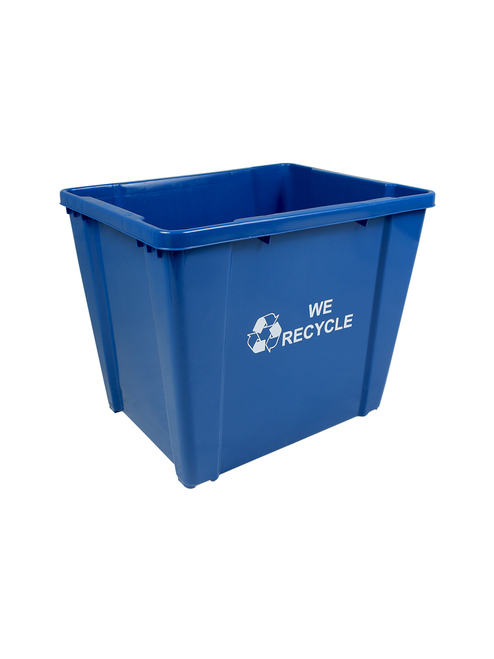 24 Gallon Bottles & Cans Curbside Recycler Blue SIR24-01WR
