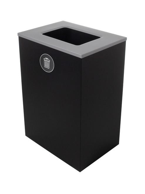 32 Gallon Steel Spectrum Cube XL Trash Can Black 8107130-4
