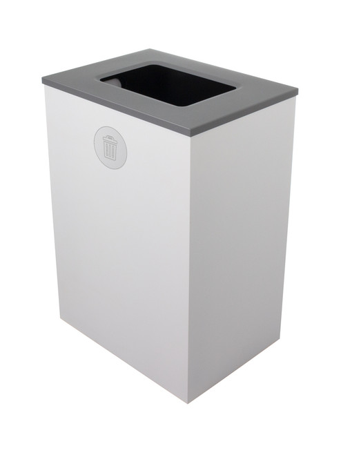 32 Gallon Steel Spectrum Cube XL Trash Can White 8107134-4