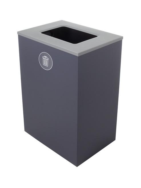 32 Gallon Steel Spectrum Cube XL Trash Can Gray 8107132-4