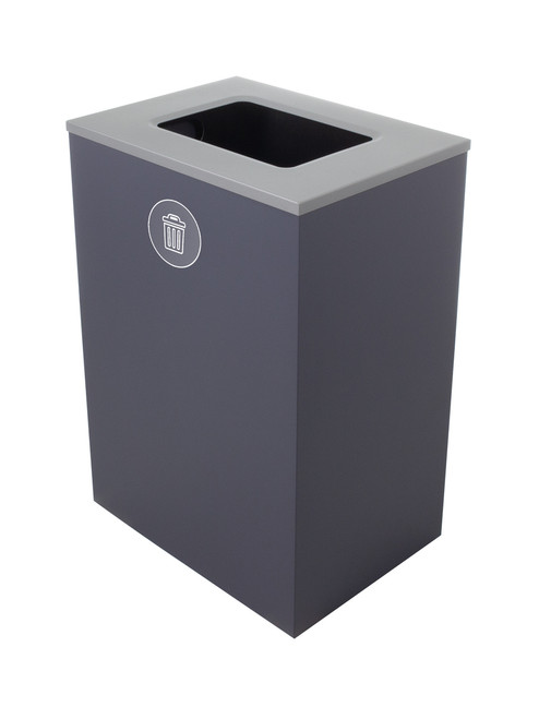32 Gallon Steel Spectrum Cube XL Trash Can Gray 8107132-4