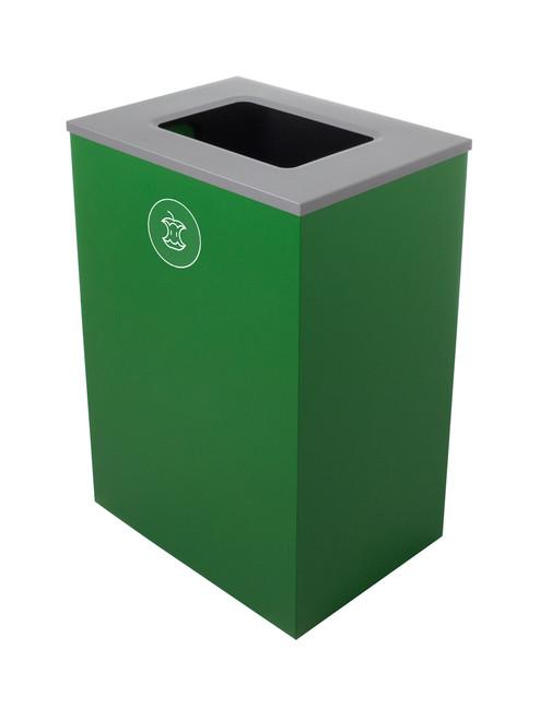 32 Gallon Steel Spectrum Cube XL Compost Bin Green 8107135-4