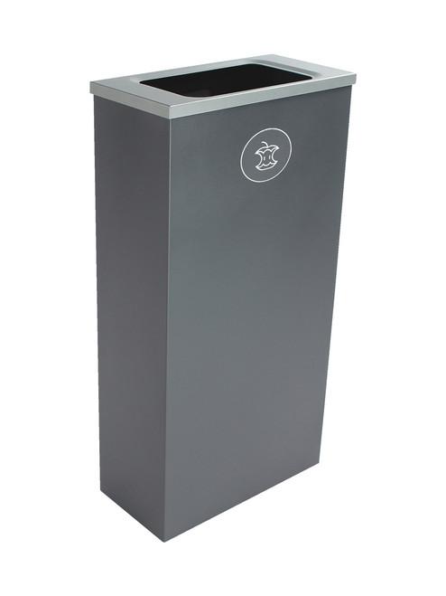 10 Gallon Steel Spectrum Slim Compost Bin Gray 8107071-4