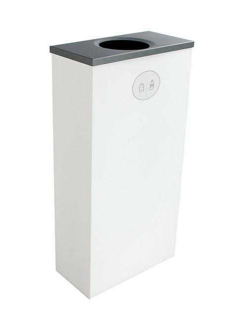 10 Gallon Steel Spectrum Slim Bottles & Cans Collector White 8107057-1