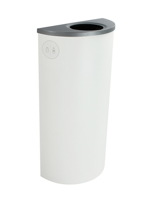 8 Gallon Steel Spectrum Half Round Bottles & Cans Collector White 8107022-1