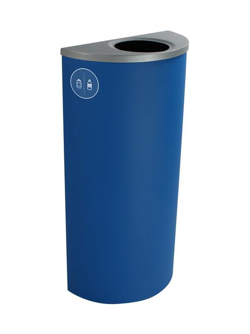 8 Gallon Steel Spectrum Half Round Bottles & Cans Collector Blue 8107019-1
