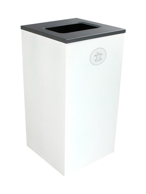 24 Gallon Steel Spectrum Cube Square Compost Bin White 8107053-4