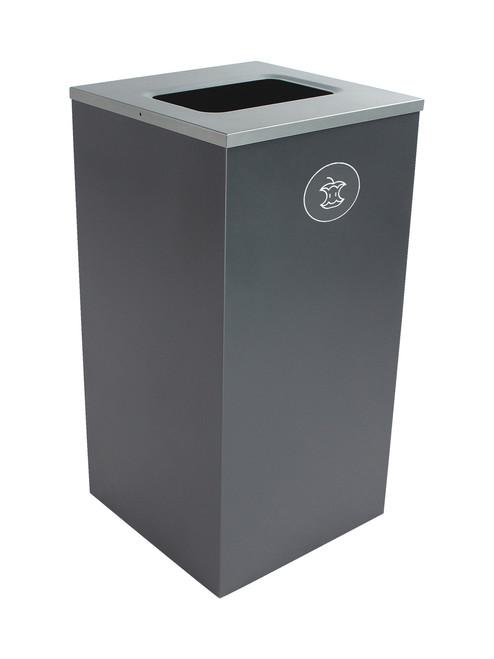 24 Gallon Steel Spectrum Cube Square Compost Bin Gray 8107052-4