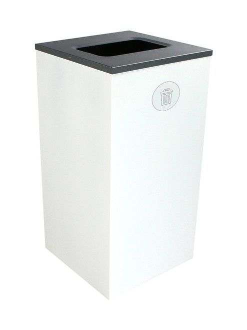 24 Gallon Steel Spectrum Cube Square Waste Can White 8107050-4