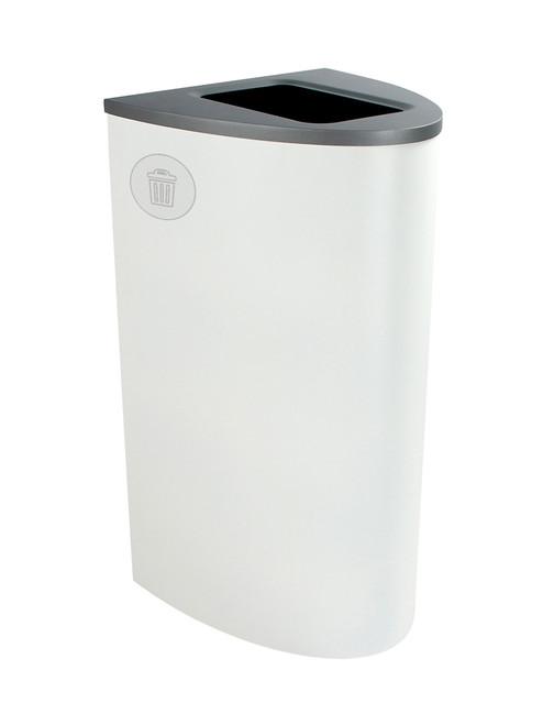 22 Gallon Steel Spectrum Ellipse Waste Can White 8107017-4