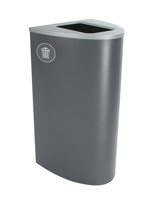 22 Gallon Steel Spectrum Ellipse Waste Can Gray 8107016-4