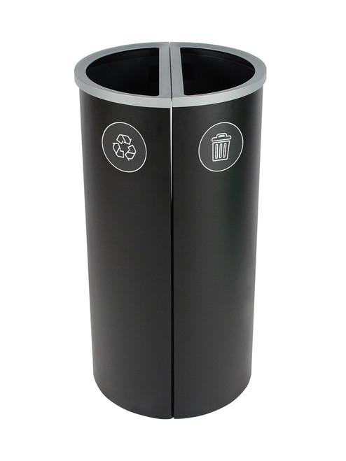 16 Gallon Spectrum Round Trash Can & Recycle Bin Black 8107089-44