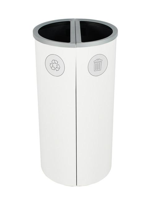 16 Gallon Spectrum Round Trash Can & Recycle Bin White 8107088-44
