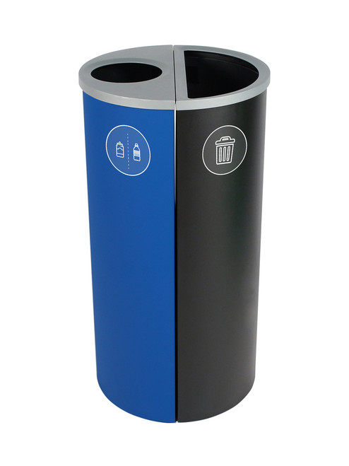 16 Gallon Spectrum Round Trash Can & Recycle Bin Blue/Black 8107082-14