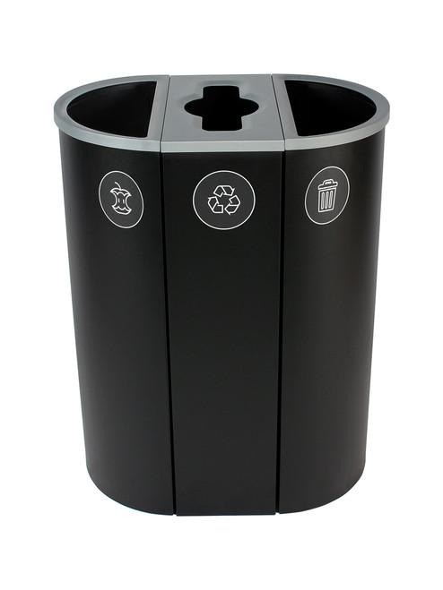 26 Gallon Spectrum Triple Recycling Station Black 8107114-424