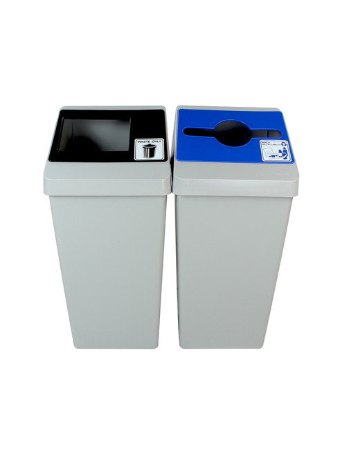 44 Gallon Smart Sort Trash Can Recycle Bin Combo 100845 (Waste Only, Mixed Recyclables)