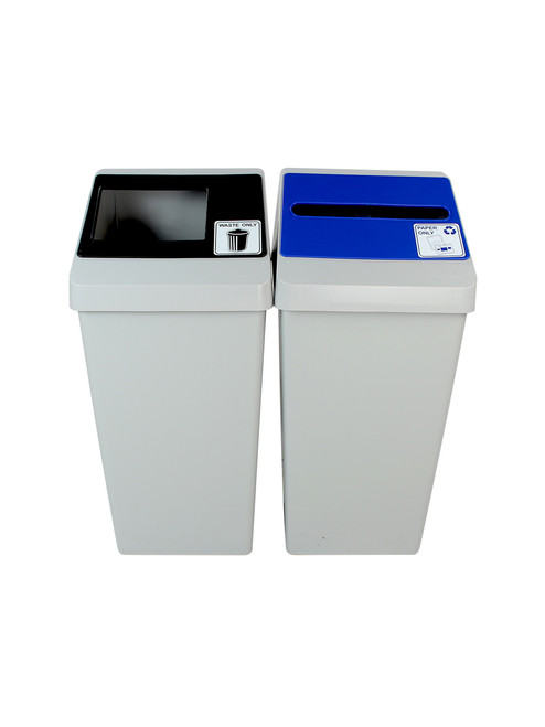 44 Gallon Smart Sort Trash Can Recycle Bin Combo 100847 (Waste Only, Paper Only)