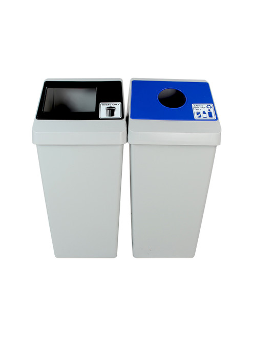 44 Gallon Smart Sort Trash Can Recycle Bin Combo 100846 (Waste Only, Cans&Bottles Only)