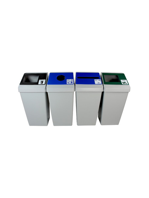88 Gallon Smart Sort 100855 (Waste Only, Cans&Bottles, Paper Only, Organics)