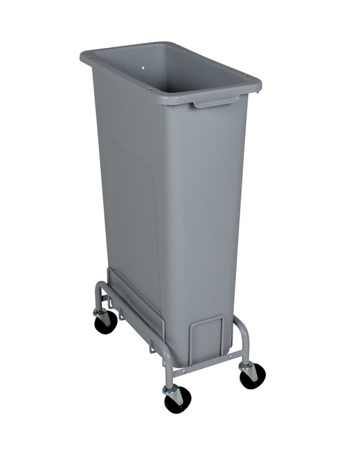 23 Gallon Plastic Skinny Trash Can with Wheels