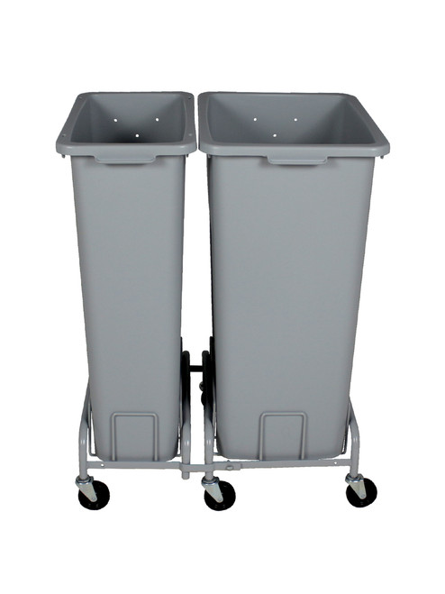 55 GallonPlastic Extra Large & Slim Trash Can with Wheels Combo (4 Color Choices)