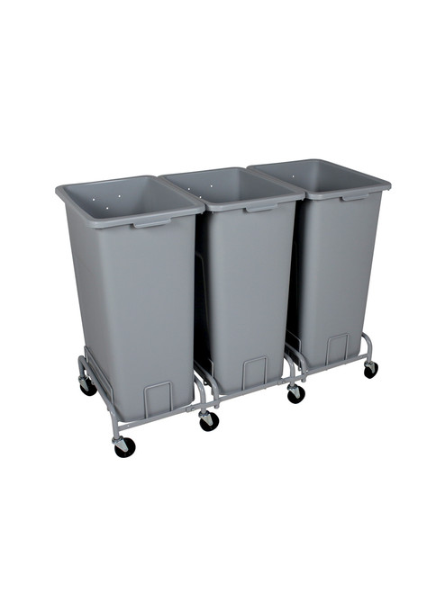 96 Gallon Plastic XL Trash Cans with Wheels Combo (4 Color Choices)