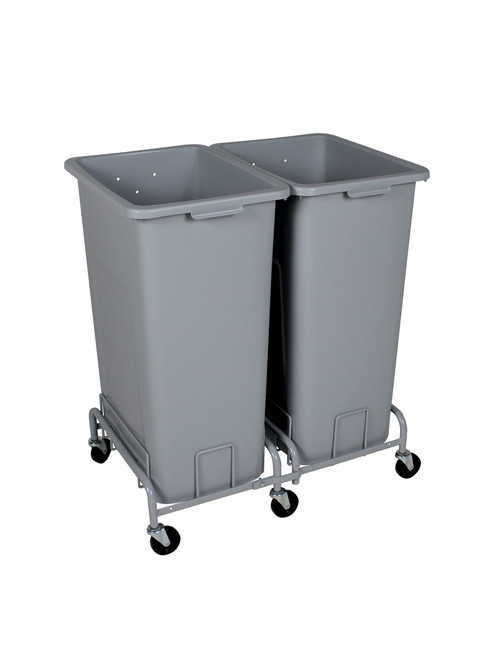 56 Gallon Plastic Extra Large Trash Cans with Wheels Combo (4 Color Choices)