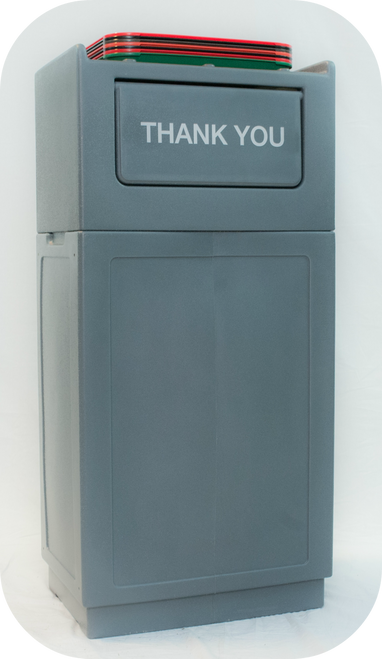 39 Gallon Tray Topper Cafeteria Trash Can